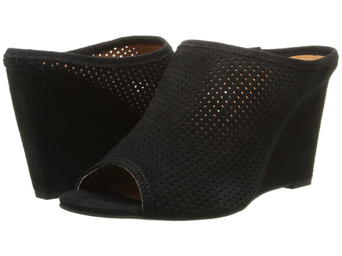 Seychelles - Perfect Match (Black Suede) Women's Wedge Shoes