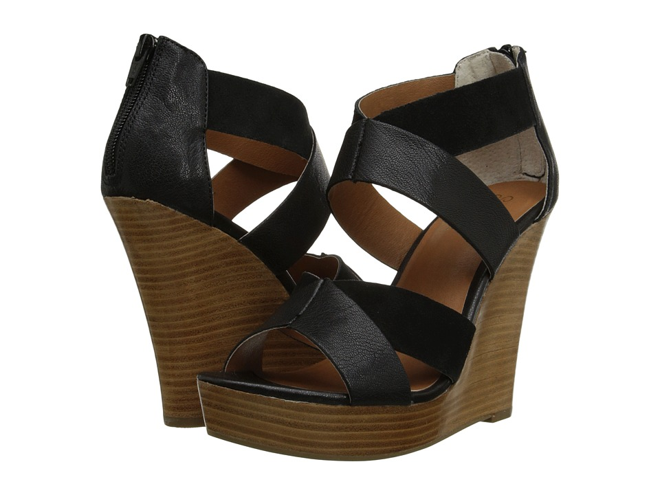 Seychelles - Strawberry Blonde (Black) Women's Wedge Shoes
