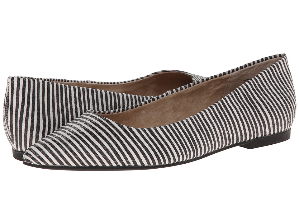 Seychelles - Well Known (Black/White Stripe) Women's Flat Shoes