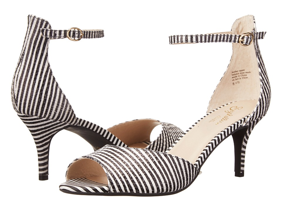 Seychelles - Hazel (Black/White Stripe) High Heels