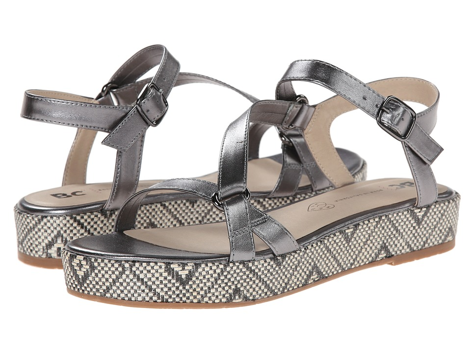 BC Footwear - Tuxedo (Pewter) Women's Sandals