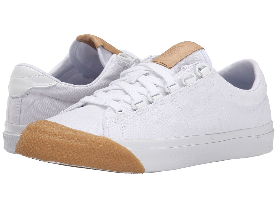 K-Swiss - Irvine T (White/Dark Gum) Women's Tennis Shoes