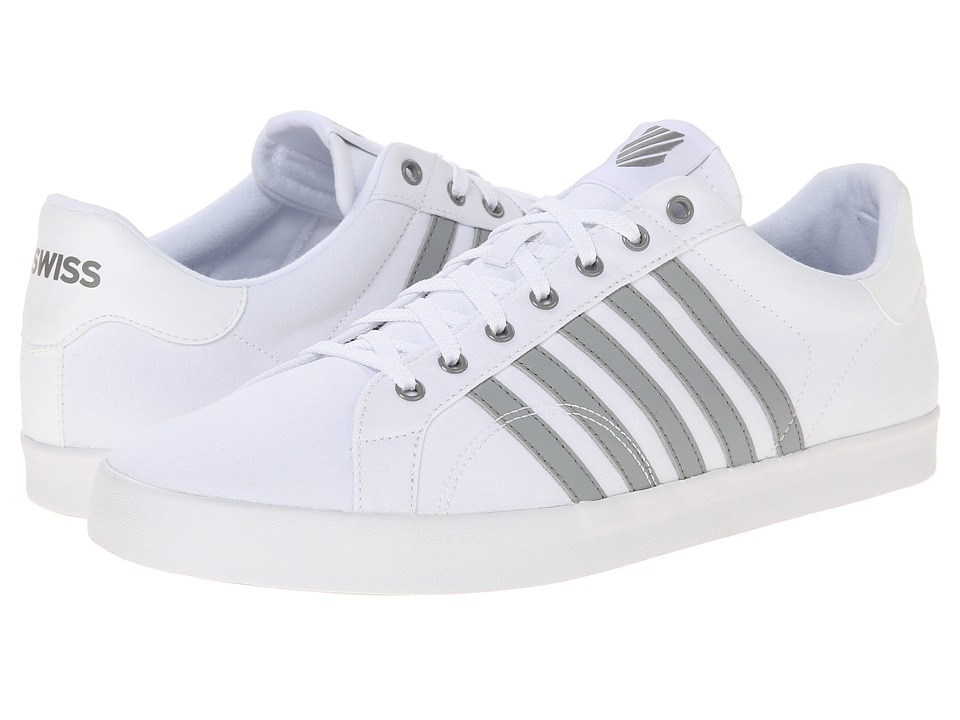 K-Swiss - Belmont SO T (White/Neutral Grey) Men's Tennis Shoes