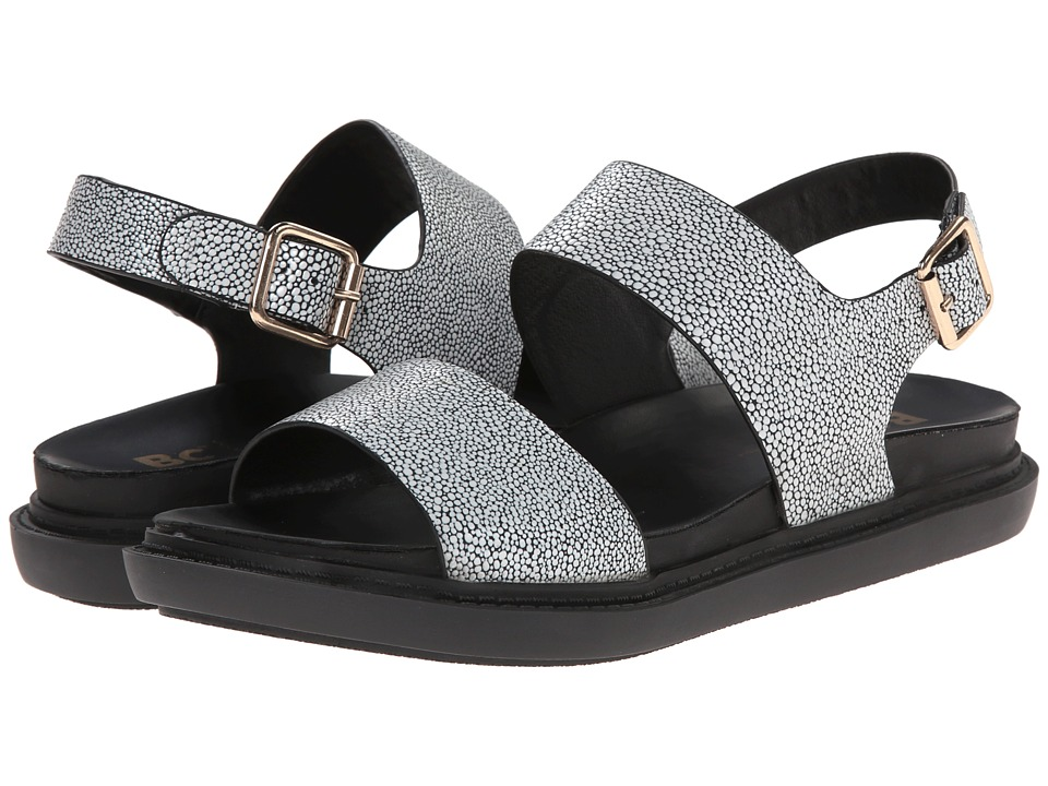 BC Footwear - Out The Window (Black/White Stingray) Women's Sandals