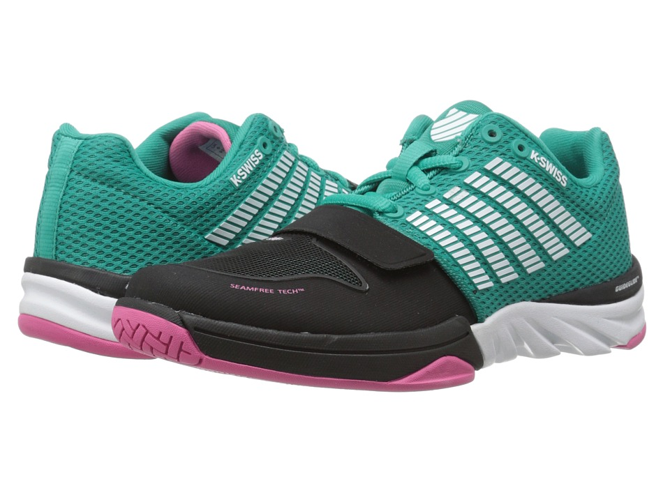 K-Swiss X Court (Dynasty Green/Shocking Pink) Women