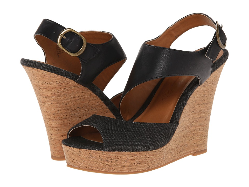 BC Footwear - Chihuahua (Black/Black) Women's Wedge Shoes
