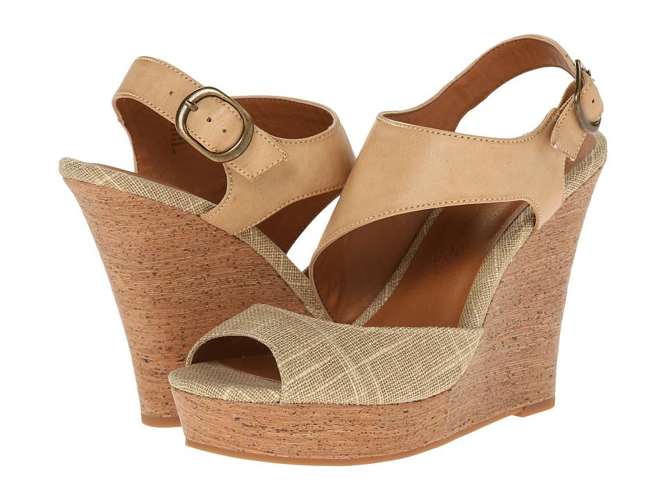 Image of BC Footwear - Chihuahua (Natural/Tan) Women's Wedge Shoes