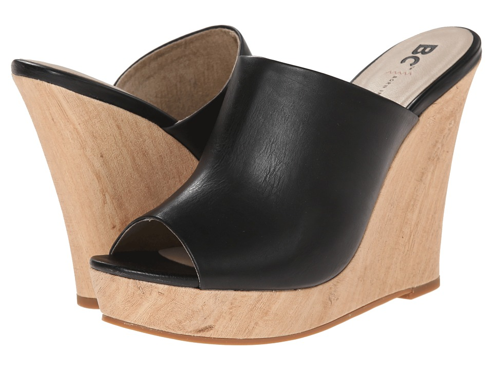 BC Footwear - Terrier (Black) Women's Wedge Shoes