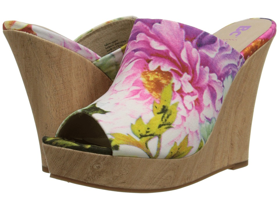 BC Footwear - Terrier (Fuchsia Floral) Women's Wedge Shoes