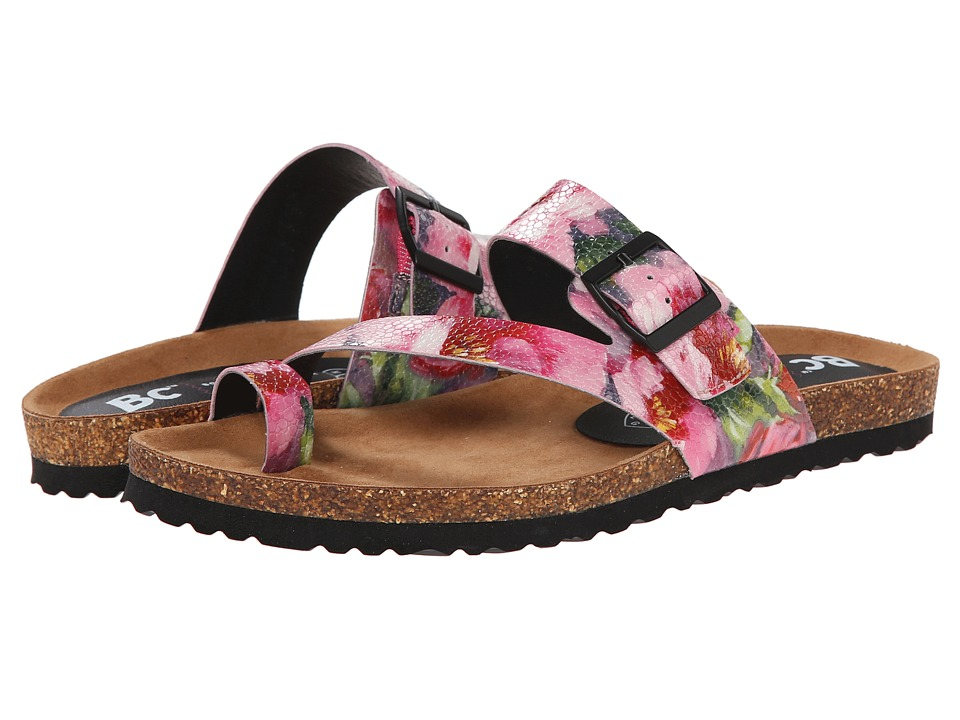 BC Footwear - Boxer (Fuchsia Floral) Women's Sandals