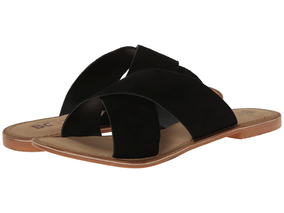 BC Footwear - Dear (Black Suede) Women's Sandals