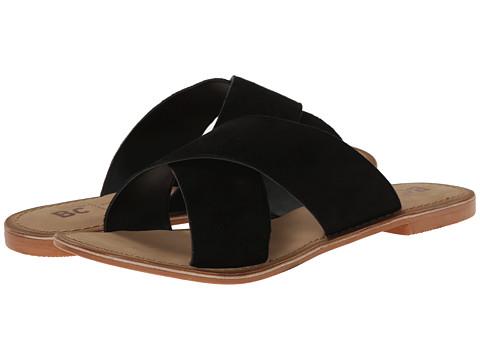 BC Footwear - Dear (Black Suede) Women's Sandals