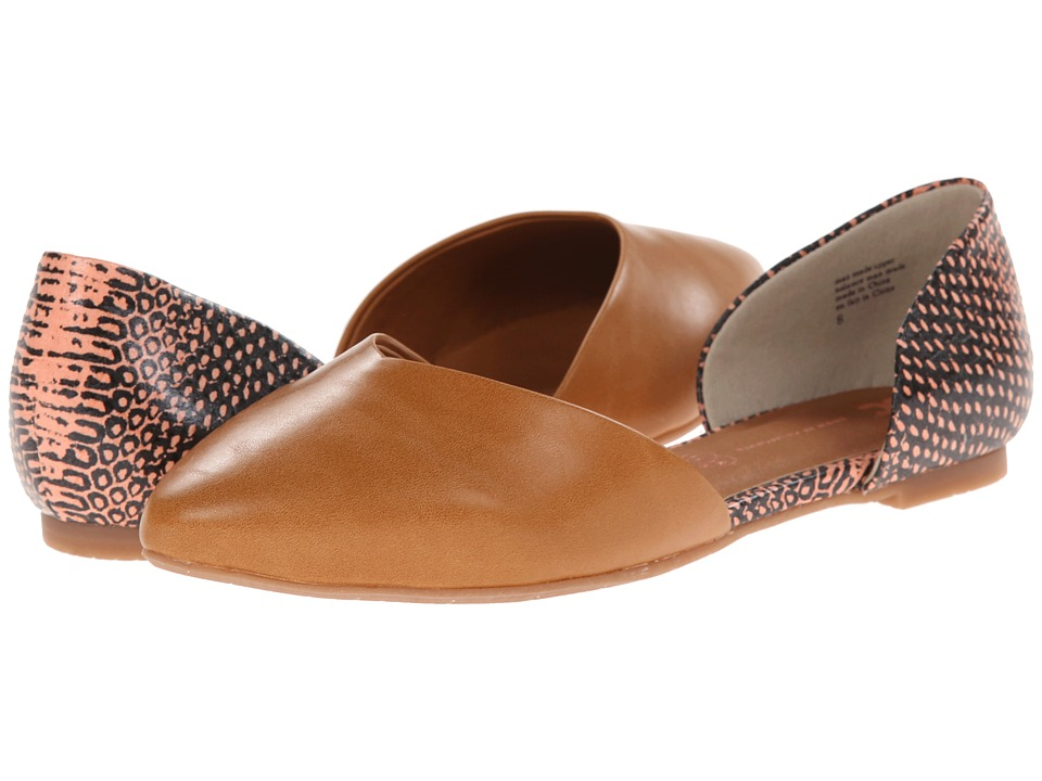 BC Footwear - Up All Night (Tan/Coral Exotic) Women's Flat Shoes