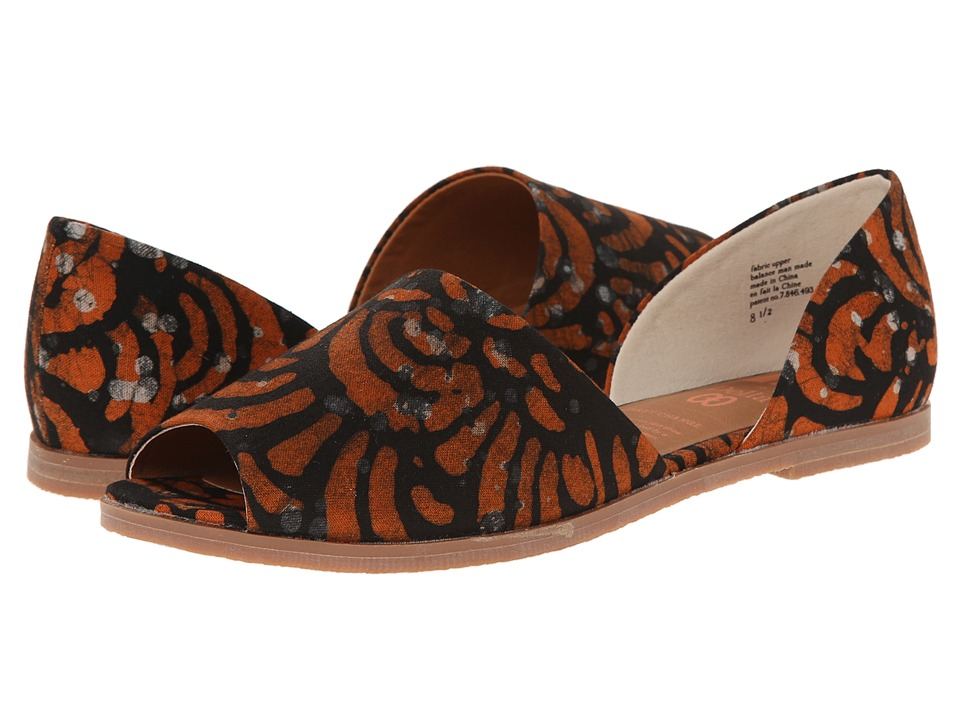 BC Footwear - Happy As A Clam (Orange Della Print) Women's Sandals