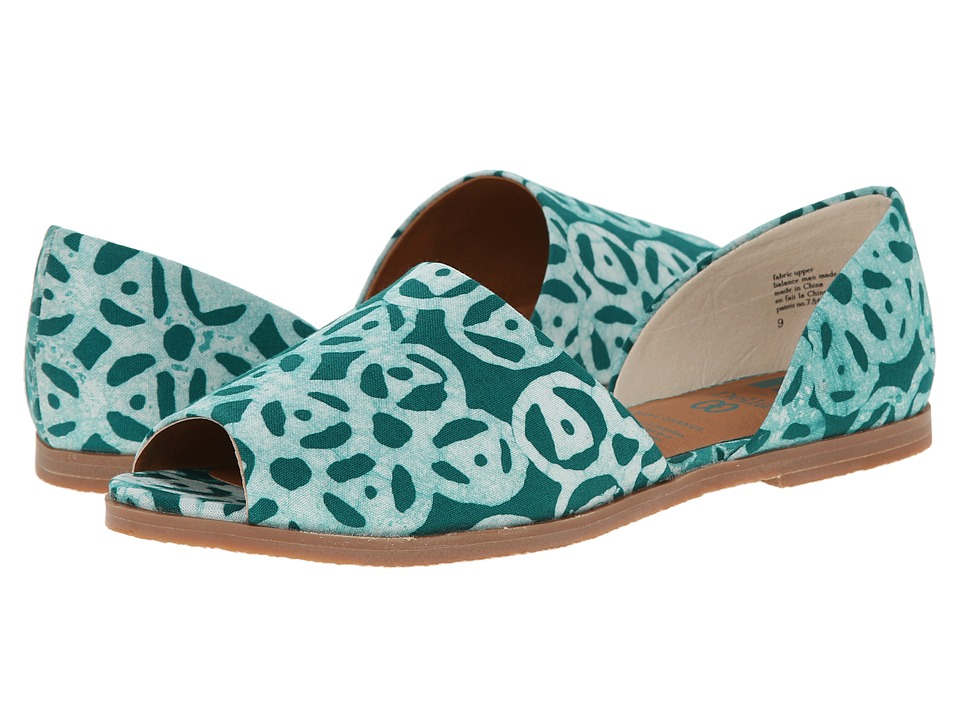 BC Footwear - Happy As A Clam (Emerald Della Print) Women's Sandals