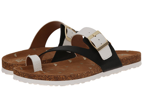 BC Footwear - Hip Hip Hooray (Black/White) Women's Sandals