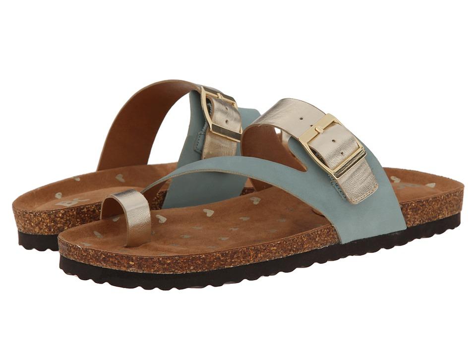 BC Footwear - Hip Hip Hooray (Aqua/Gold) Women's Sandals