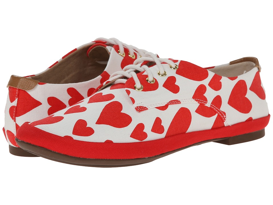 BC Footwear - Unicorn (Red Hearts) Women's Lace up casual Shoes