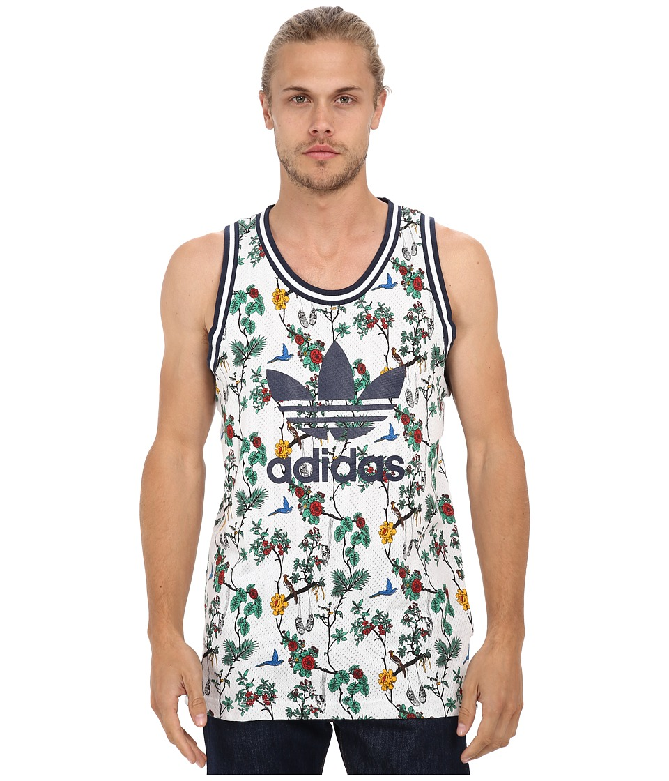 adidas Originals - Island SST Mesh Jersey (White/Multicolor/Collegiate Navy) Men's Sleeveless