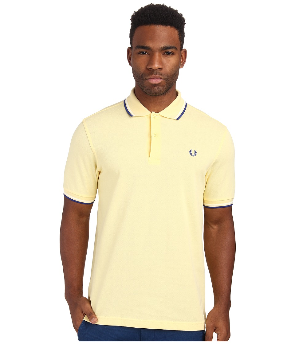 Fred Perry - Twin Tipped Fred Perry Polo (Soft Yellow/Ecru/Regal) Men