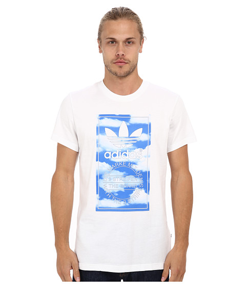 adidas Originals - Cloud Tongue Label Tee (White/Multicolor Print) Men