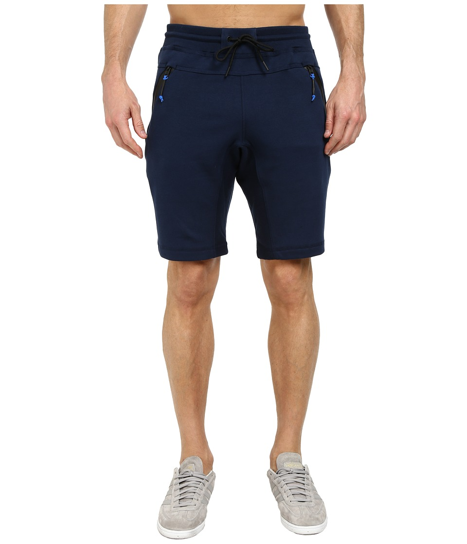 adidas Originals - Sport Luxe Fleece Short (Collegiate Navy/Black) Men