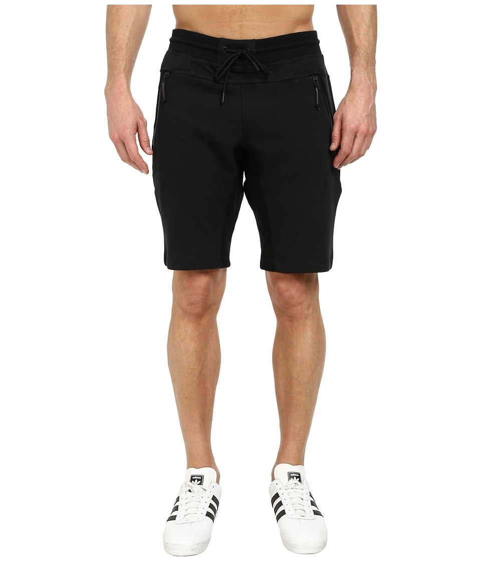 adidas Originals - Sport Luxe Fleece Short (Black/Black) Men