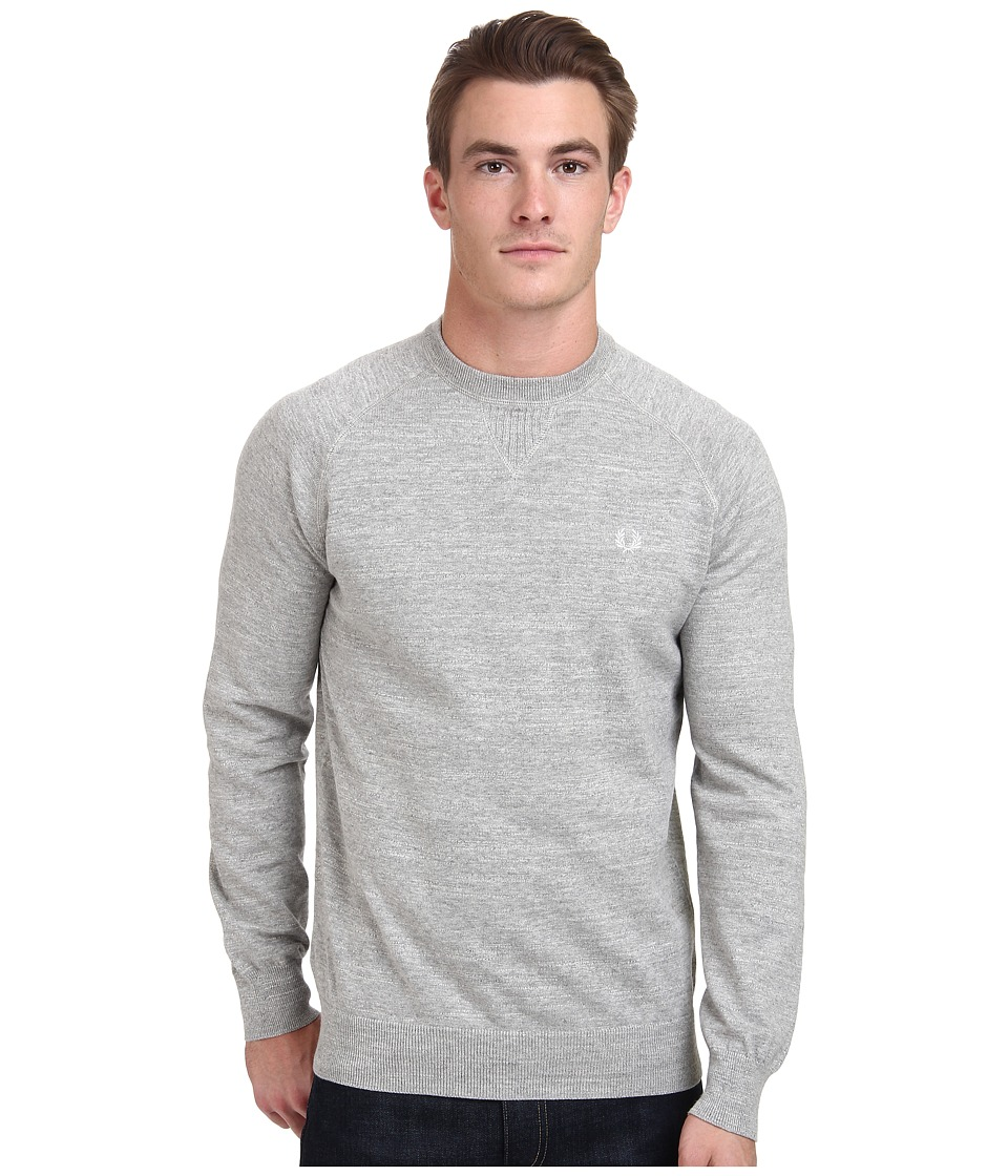 Fred Perry - Marl Crew Neck Sweater (Stone Marl) Men