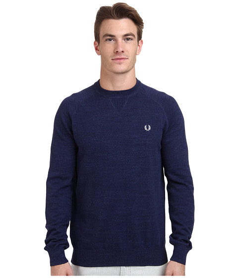 Fred Perry - Marl Crew Neck Sweater (French Navy) Men's Sweater