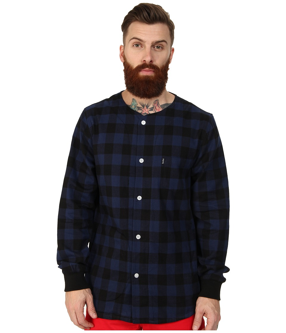 Crooks & Castles - Overthrown Woven L/S Top (Royal/Navy) Men's Long Sleeve Button Up