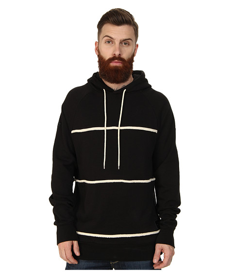 Crooks & Castles - Takeshi Knit Hooded Pullover (Black) Men's Sweatshirt