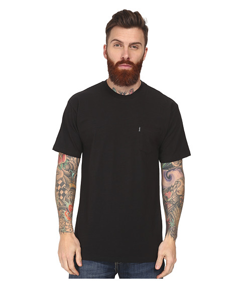 Crooks & Castles - Slub Pocket Knit Crew T-Shirt (Black) Men's T Shirt