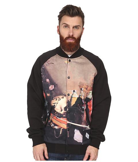 Crooks & Castles - Filcher Knit Baseball Jacket (Black) Men's Coat