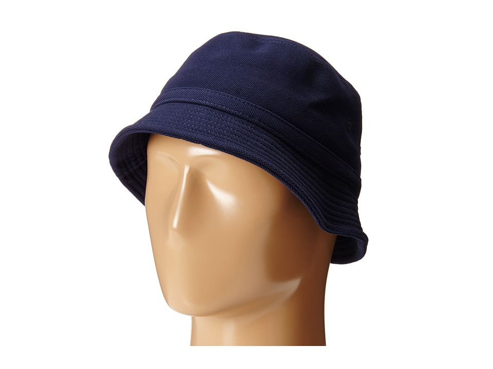 Lacoste - Pique Bucket Hat (Navy Blue) Caps