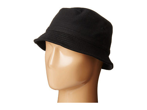 Lacoste - Pique Bucket Hat (Black) Caps