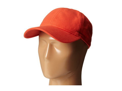 Lacoste - Cotton Pique Cap (Orange) Caps