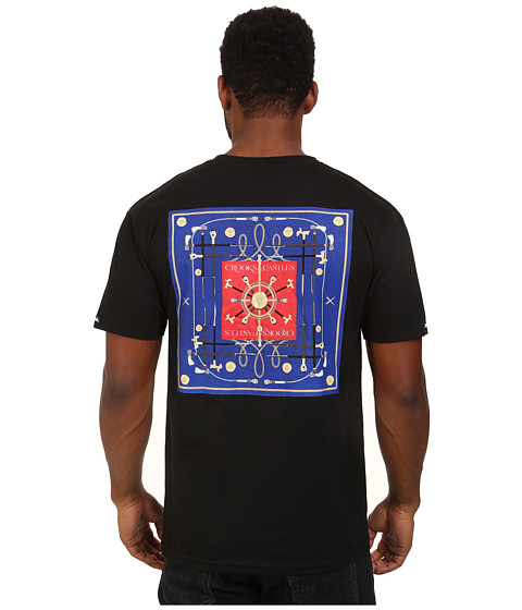 Crooks & Castles - Players Bandana Knit Crew T-Shirt (Black) Men