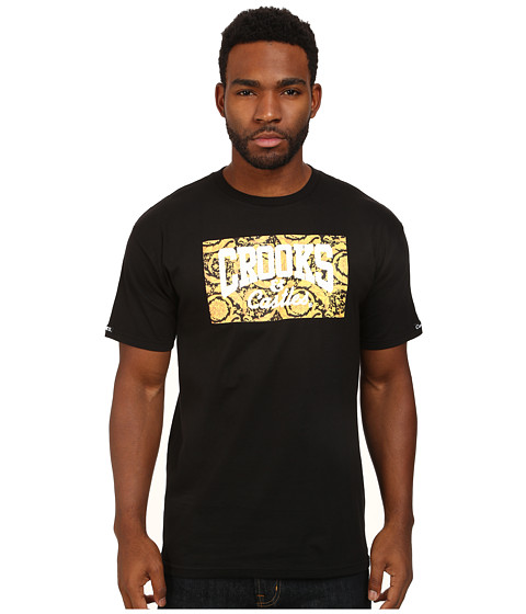 Crooks & Castles - Lavish Core Logo Knit Crew T-Shirt (Black) Men