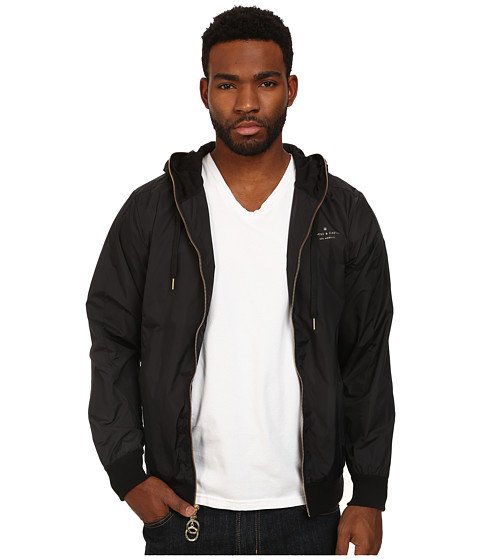 Crooks & Castles - All City Woven Windbreaker (Black) Men's Coat