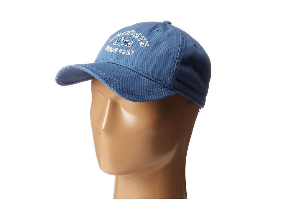 Lacoste - Gabardine Since Cap (Admiral Blue) Caps
