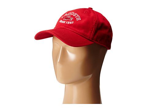 Lacoste - Gabardine Since Cap (Tokyo Red) Caps