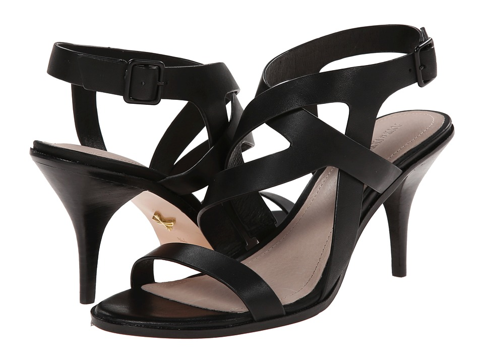 Pour La Victoire Maura (Black Polished Calf) High Heels