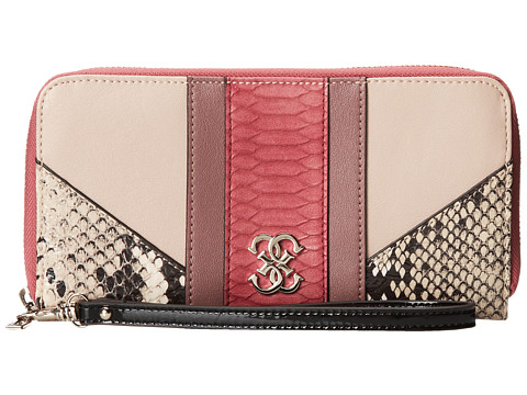 GUESS - Paxton Large Zip Around (Passion Multi) Handbags