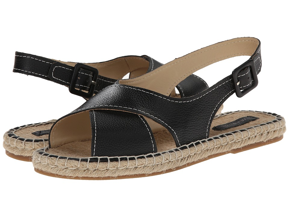Pour La Victoire - Olivia (Black Tumbled Nappa) Women's Sandals