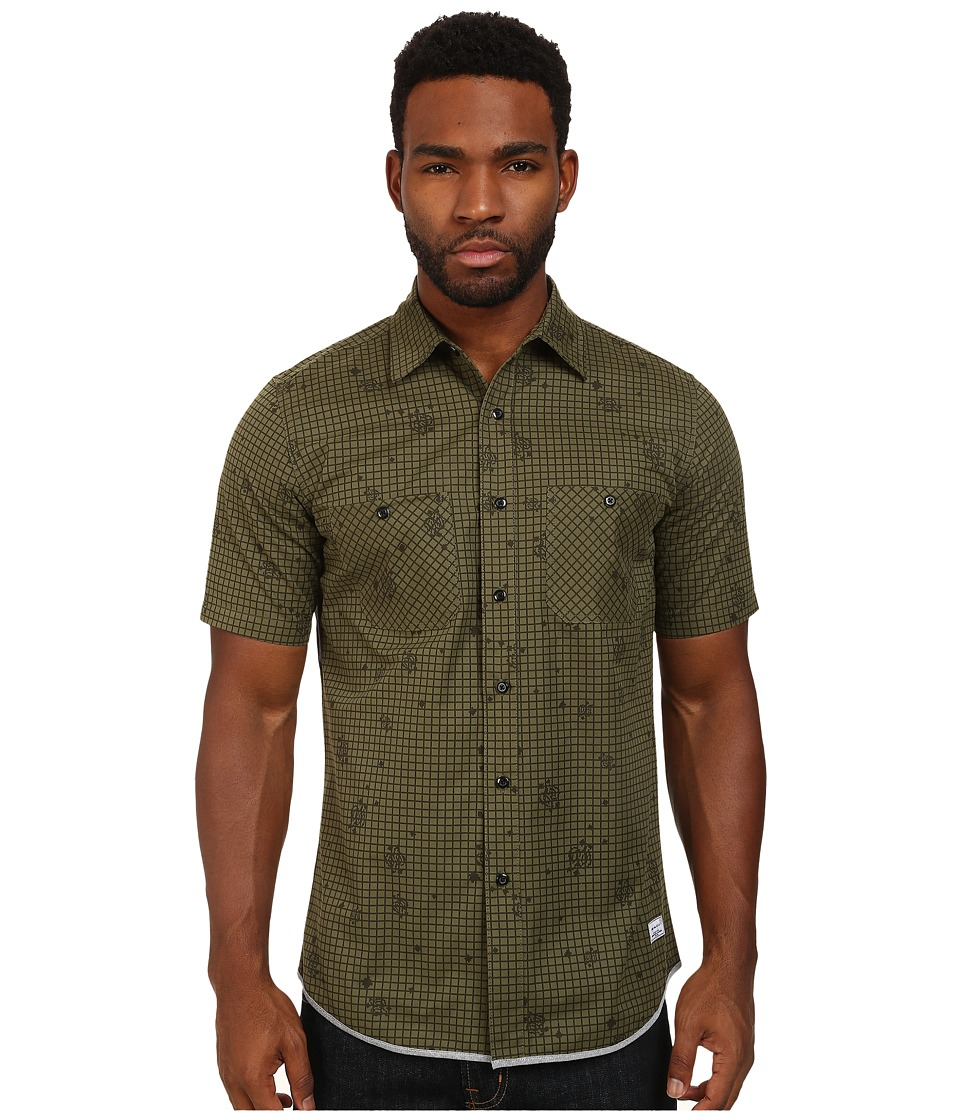 Crooks & Castles - Recon Woven S/S Shirt (Military Multi) Men