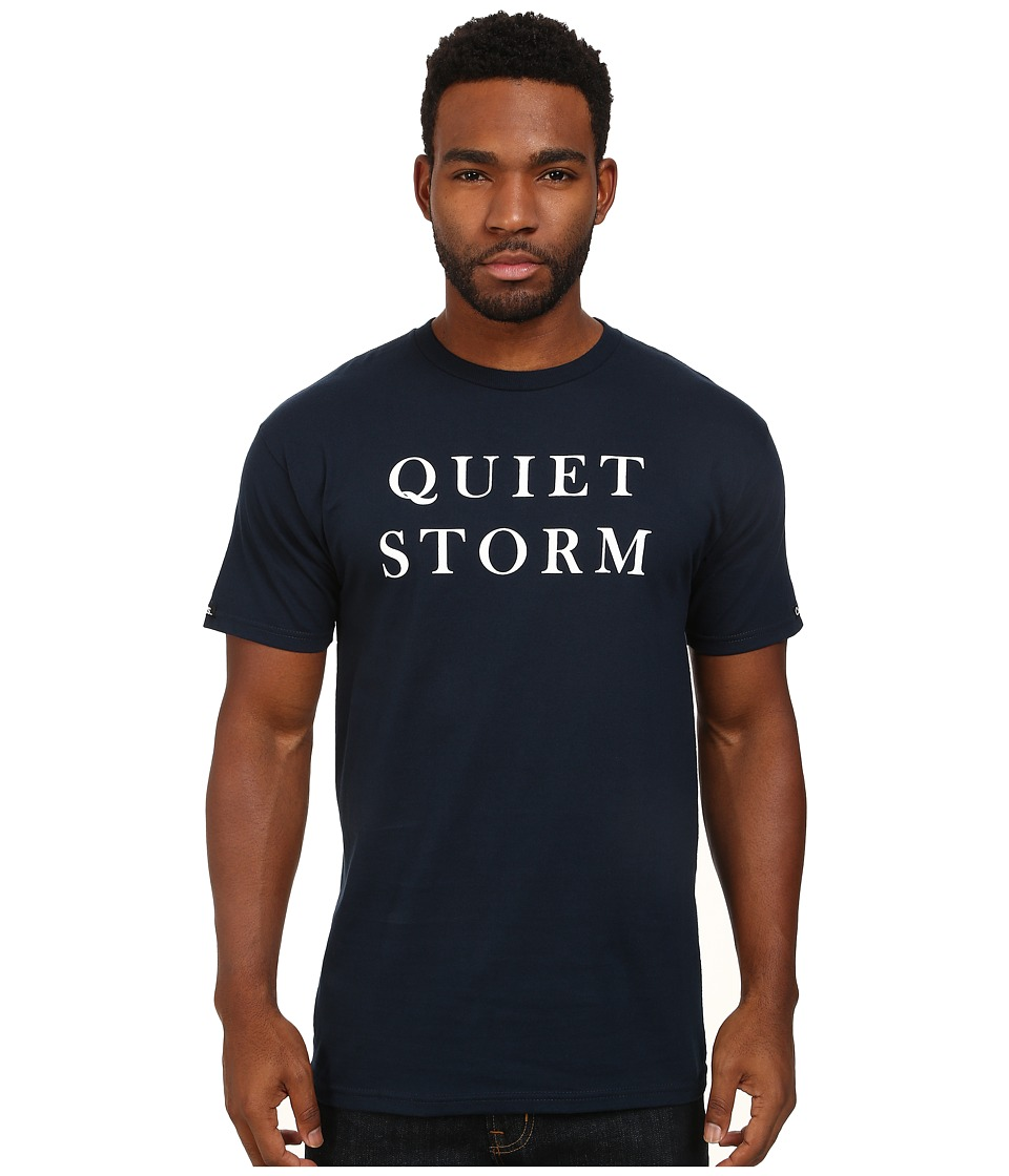 Crooks & Castles - Quiet Storm Knit Crew T-Shirt (Navy) Men's T Shirt
