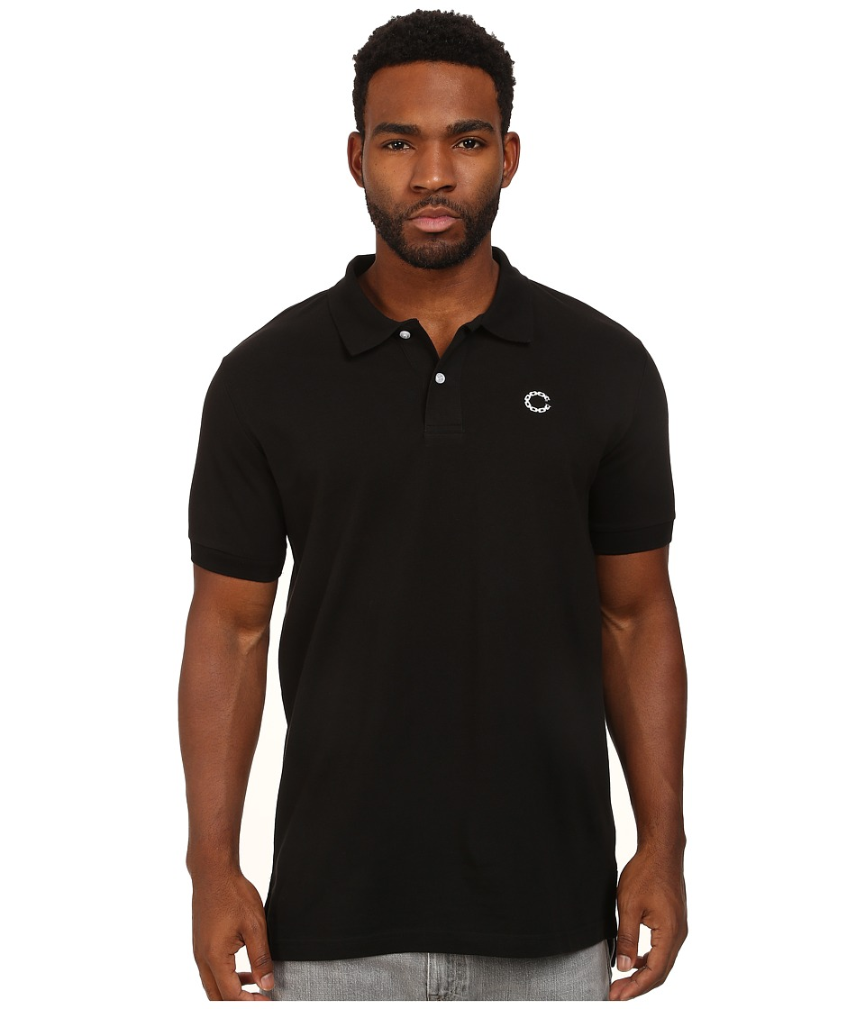 Crooks & Castles - Regal Knit S/S Polo Top (Black) Men's Short Sleeve Knit