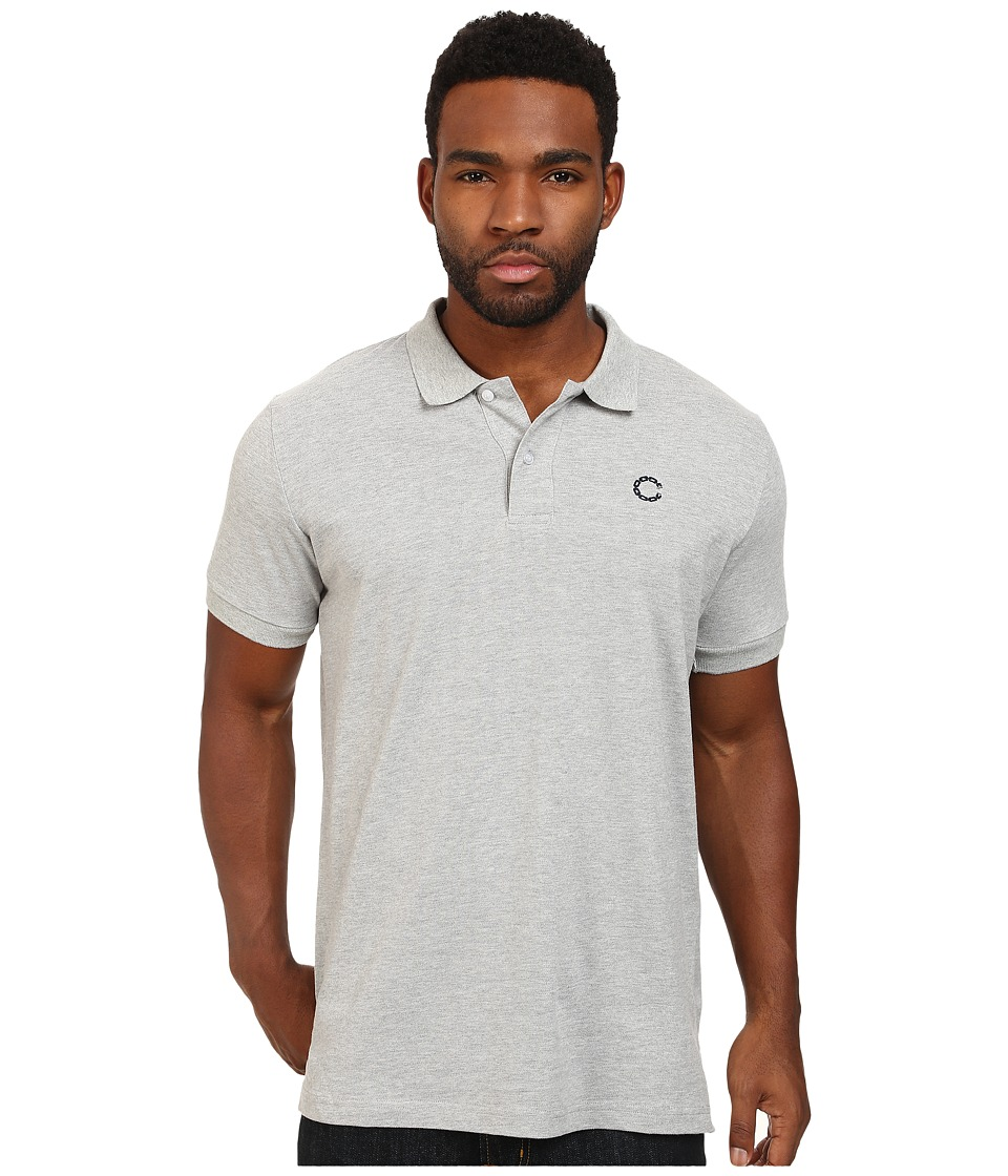 Crooks & Castles - Regal Knit S/S Polo Top (Heather Grey) Men's Short Sleeve Knit