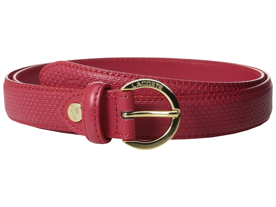 Lacoste - Premium Chantaco Belt (Tango Red) Women's Belts