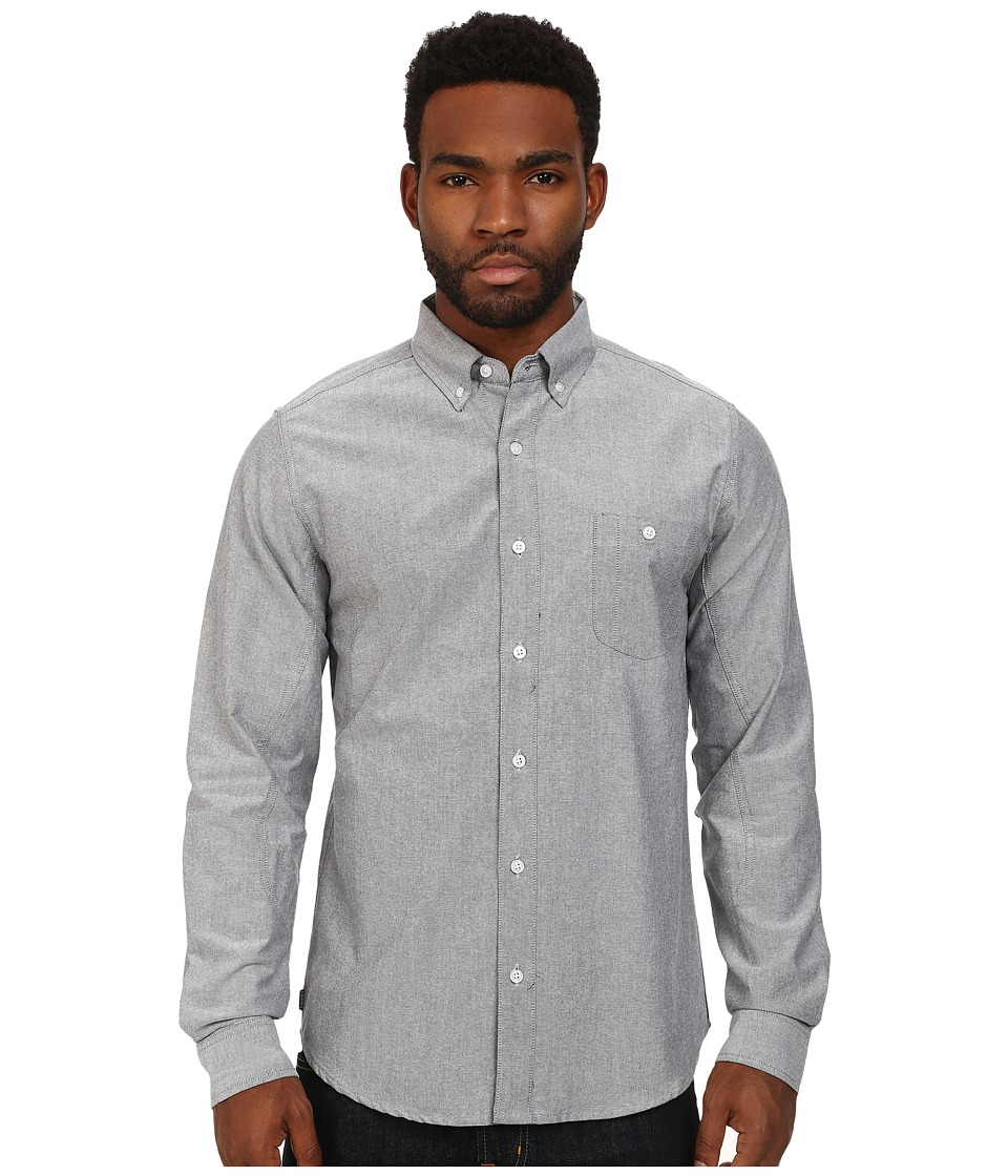 Crooks & Castles - Good Fella Woven L/S Shirt (Black) Men